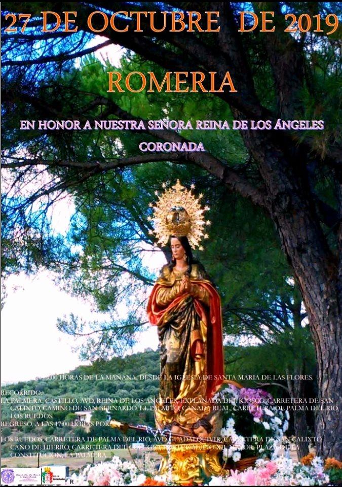 Cartel Romería de Nuestra Señora de Los Ángeles
