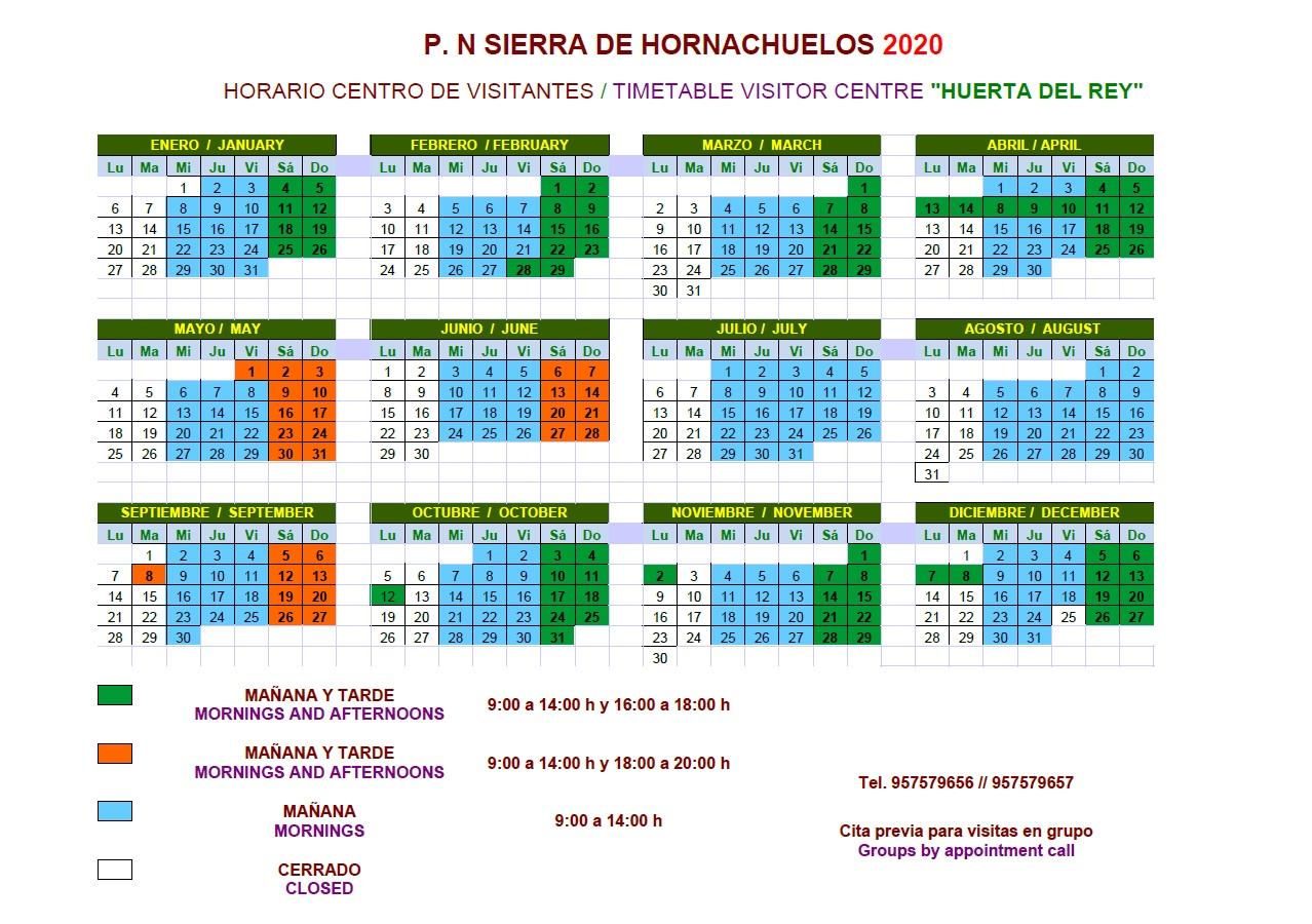 Horario CV Huerta Rey 2020.