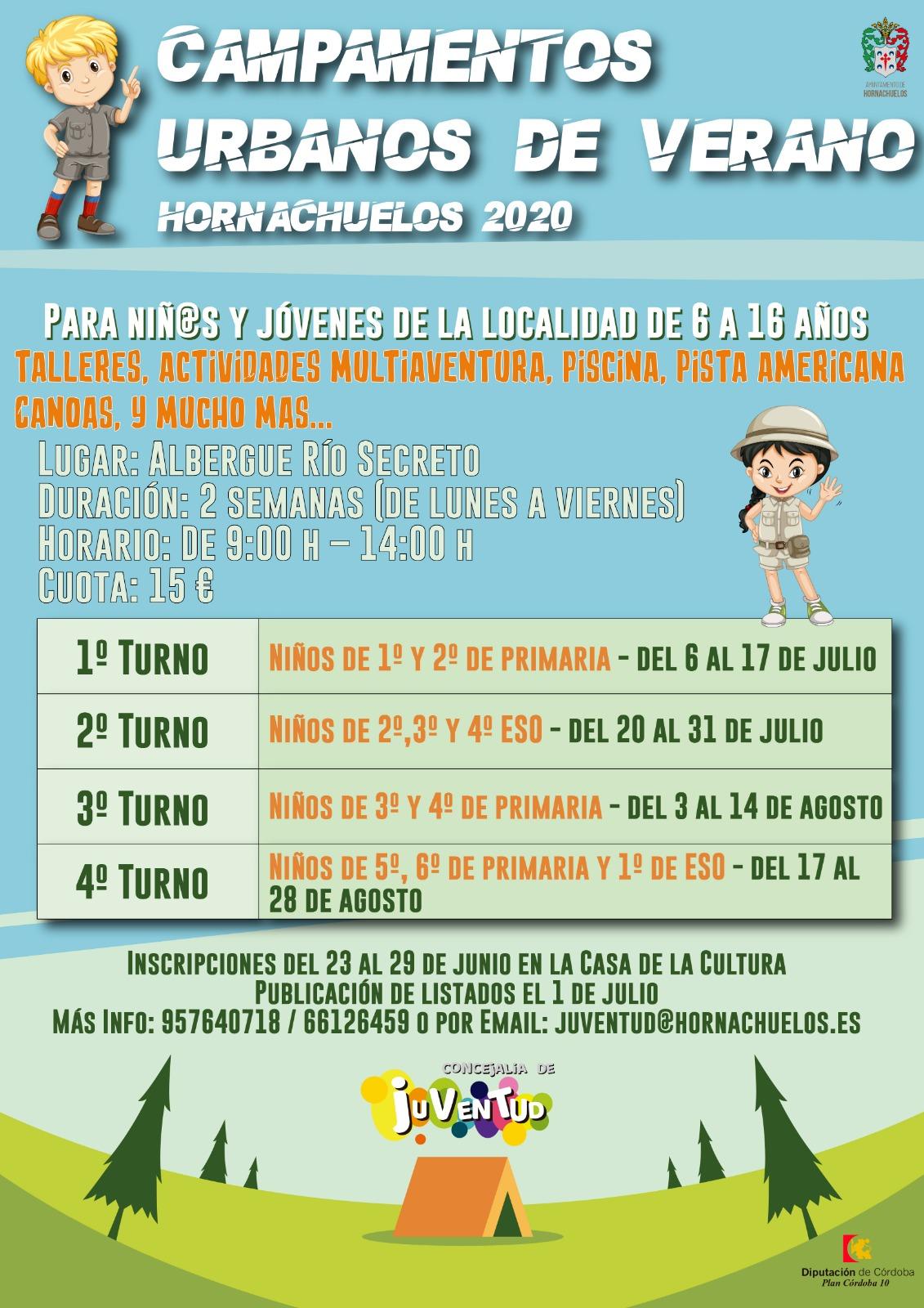 Campamentos Urbanos de Verano Hornachuelos 2020