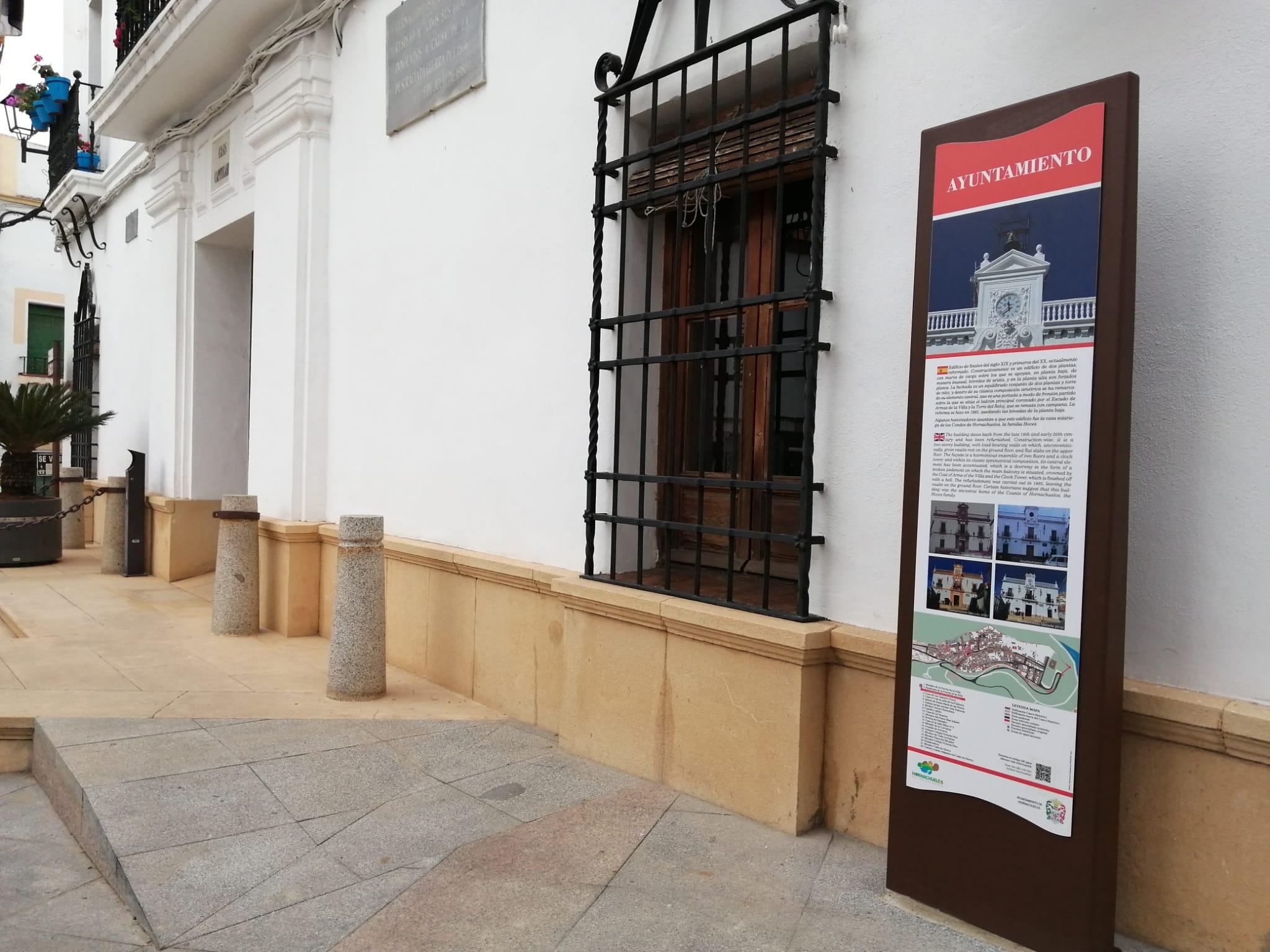 Señal descriptiva Ayuntamiento de Hornachuelos
