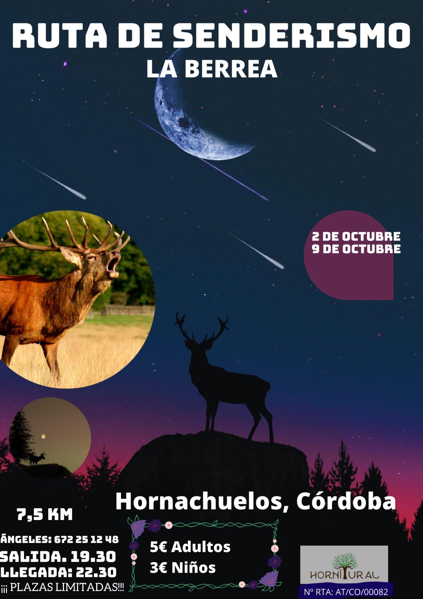Ruta de Senderismo berrea 2 y 9 de octubre
